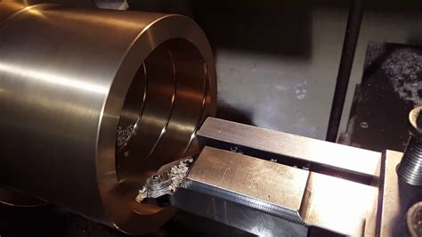 cutting grease grooves  cnc lathe youtube