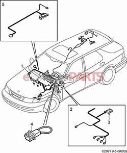 12778901  Saab Dashboard Wiring Harness