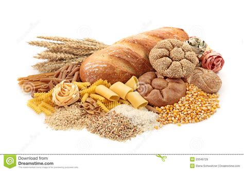 cuisine high foods high in carbohydrate royalty free stock images