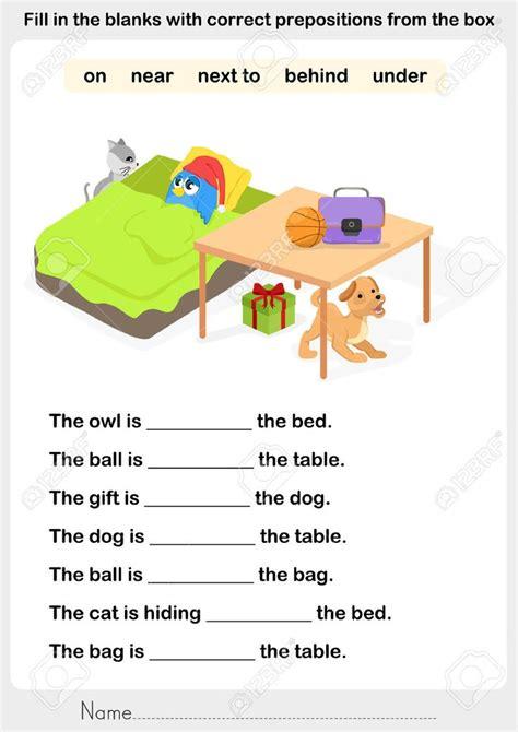 image result  preposition worksheets