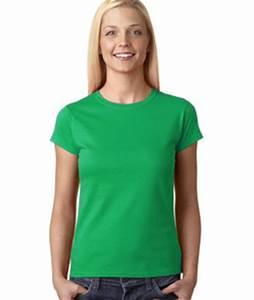 Light Blue Cotton T Shirt Womens Custom Fitted Shirts Gildan Junior Fit Tee 64000l