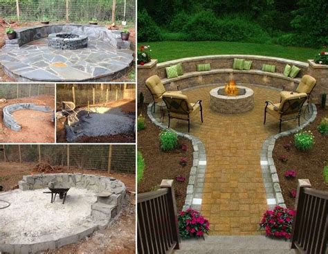 this flagstone pit patio is truly amazing