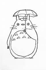 Totoro Neighbour sketch template