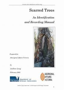 Aboriginal Scar Tree Identification  U0026 Recording Manual By
