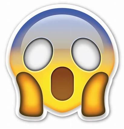 Emoji Face Sticker Screaming Fear Shocked Emojis