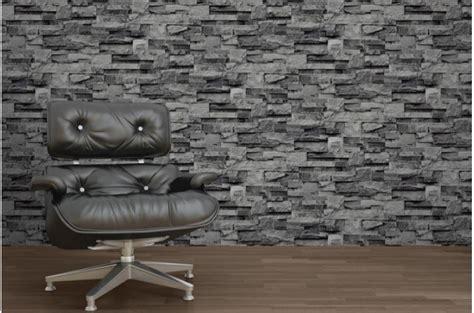 papier peint de parement grise papiers peints brique pierres pas cher