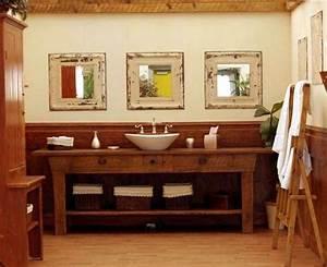 Waschtisch Für Aufsatzwaschbecken Aus Holz : 20 ideen f r rustikale badezimmer badm bel aus holz und ~ Michelbontemps.com Haus und Dekorationen