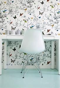 Papier Peint Papillon Oiseau : focus mati re le papier peint cocon de d coration le blog ~ Zukunftsfamilie.com Idées de Décoration