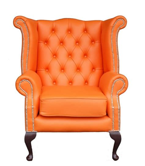 orange chesterfield wing chair chairblog eu