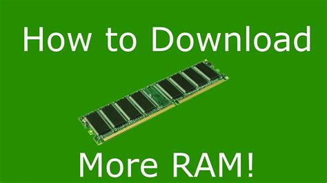How To Download More Ram For Free! Youtube