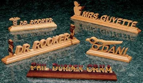 scroll sawn nameplates article woodworking scroll