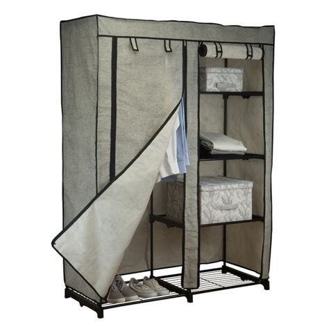 Simplify Closet by Shop Simplify 48 Quot Portable Closet In Black Free Shipping