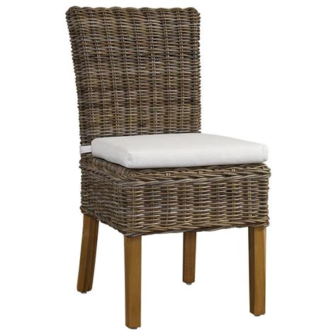 Kubu Dining Chair Cushion boca dining chair white cushion gray kubu rattan wicker