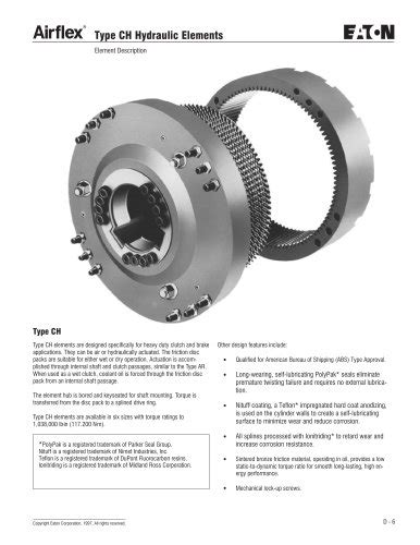 Oil Cooled Multiple Disc Clutches and Brakes - Airflex CH