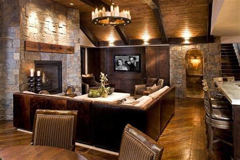 deco salon rustique atmosphere chaleureuse  naturelle