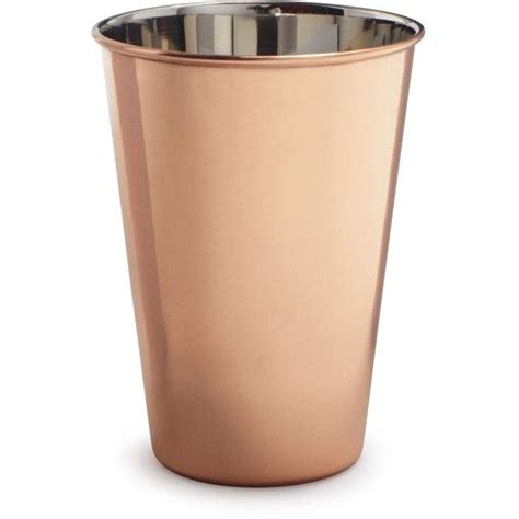 copper pint glass    polyvore featuring home kitchen dining drinkware sur la