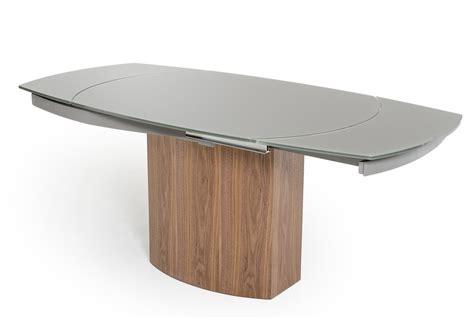modrest swing modern grey walnut veneer dining table
