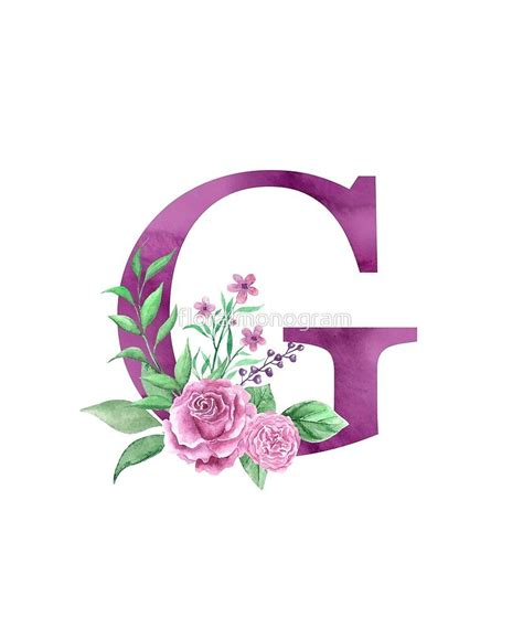 monogram  lovely rose bouquet sticker  floralmonogram   monogram wallpaper