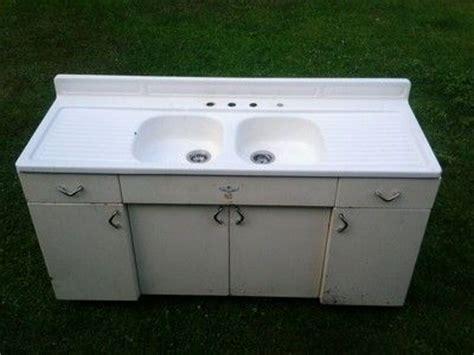 Vintage Youngstown Kitchen Sink Cabinet by Vintage Porcelain Cast Sink On Vintage Mullins