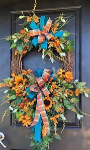 Fall, Wreath, Double, Door, Fall, Wreath, Hydrangea, Wreath, Front, Door, Wreath, Thanksgiving, Wreath