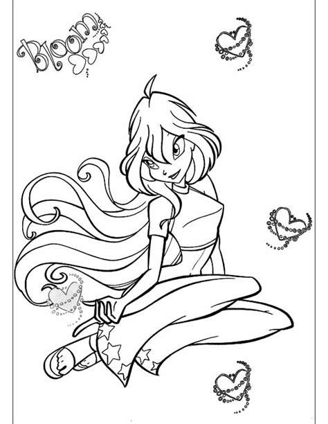 Winx Kleurplaat Bloom by Kleuren Nu Winx Bloom Hartjes Kleurplaten