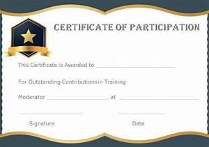 13 training participation certificate templates free With training participation certificate template