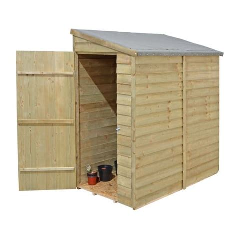 shed 6x3 forest garden 6x3 overlap wall shed