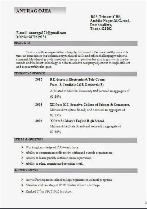 skills in resume for it freshers 1000 images about do it big on