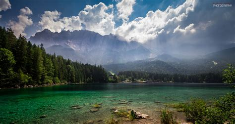 Eibsee And Zugspitze, Germany