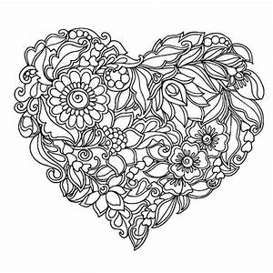 coloring page of hearts - heart coloring pages for adults color bros