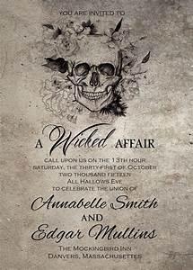 spooktacular halloween wedding invitations gothic With scary halloween wedding invitations
