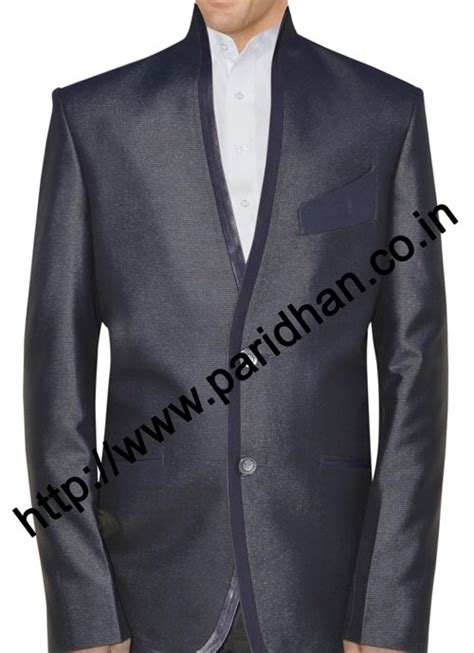 gray  color high neck tuxedo suitwestern mens outfits