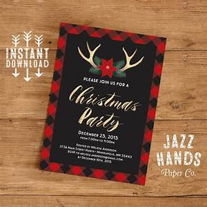 Christmas Party Invitation Template Diy Printable Holiday