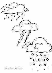 Mewarnai, Gambar, Hujan