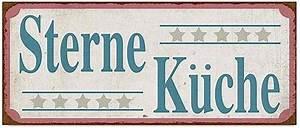 Vintage Deko Küche : blechschild 5 sternek che deko vintage schild k che im ~ Sanjose-hotels-ca.com Haus und Dekorationen