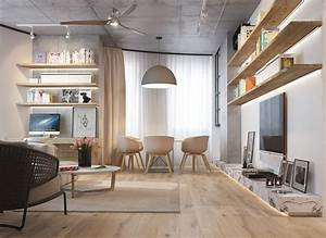 3 inspiring homes with concrete ceilings and wood floors With interior design ideas with wooden floors