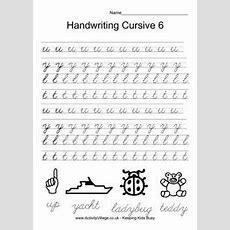 Kindergarten Cursive Handwriting Worksheet Printable  School And Teacher Gifts Pinterest