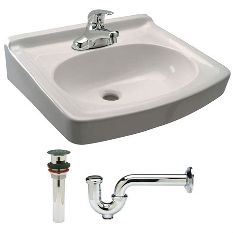 zurn brass wall lavatory sink  faucet bowl size