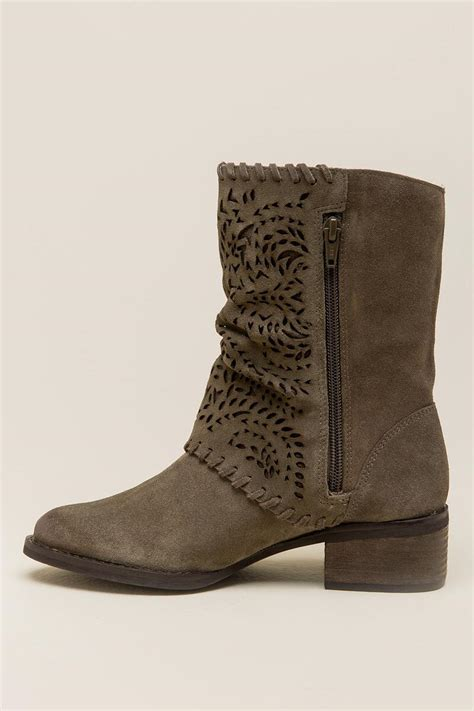 Lazer Boot by V Phyer Laser Cut Cuff Boot Francesca S