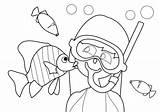 Coloring Snorkeling Snorkel Kidspressmagazine Template Activities Stress Cartoon Templates Crafts sketch template
