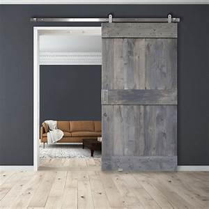 mid rail barn door With 60 inch wide barn door