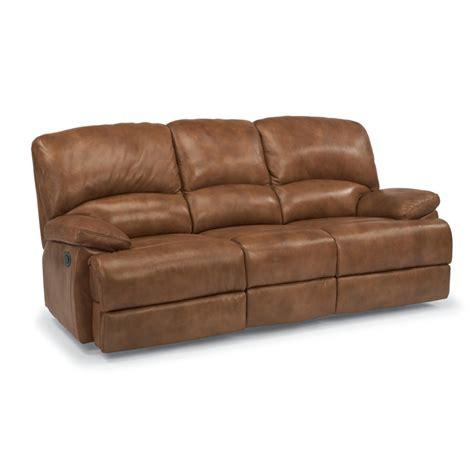 flexsteel 1927 63p dylan leather power three cushion
