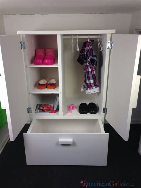 How To Make A Doll Wardrobe Closet by American Closet Diy American Furniture