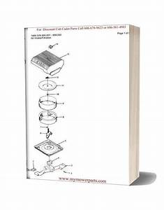 Cub Cadet Parts Manual For Model 1864 Sn 880001 899000