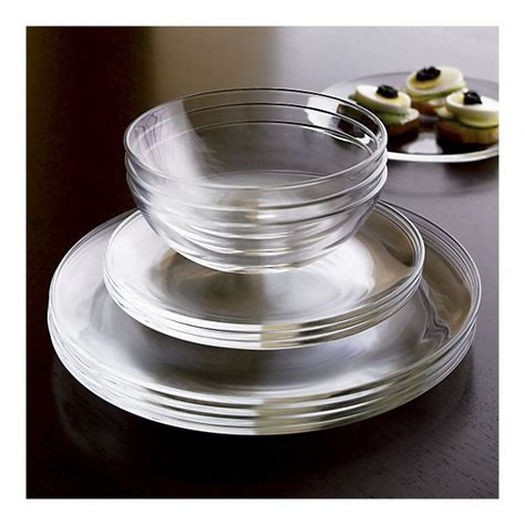 glass clear dinnerware dishes bad bowls circles kitchen