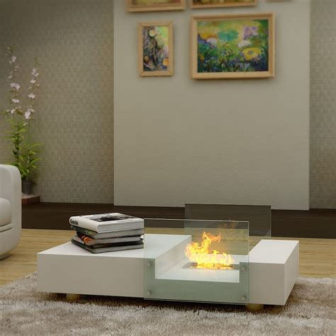 mobile buy seraphino bio ethanol fireplace coffee table