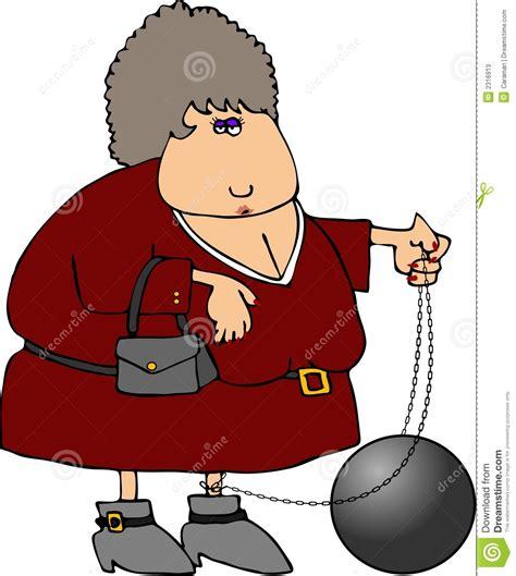 ball chain woman stock  image