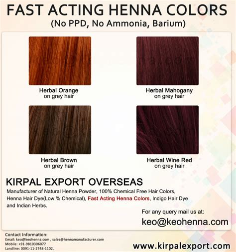 Fast Acting Henna Hair Colors No Chemical View Henna