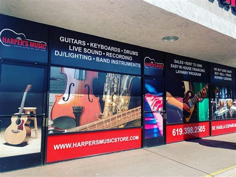 Our instruments ship fully serviced and ready to play. Harper's Music Store location in Chula Vista near San Diego , CA. Visit us for a wide variety of ...