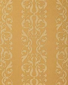 edem 829 22 barock streifen tapete damask muster safran With balkon teppich mit barock muster tapete